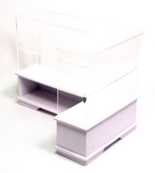 "Showcase, Stall & Trolley | Acrylic Counter - ""L"" shape"